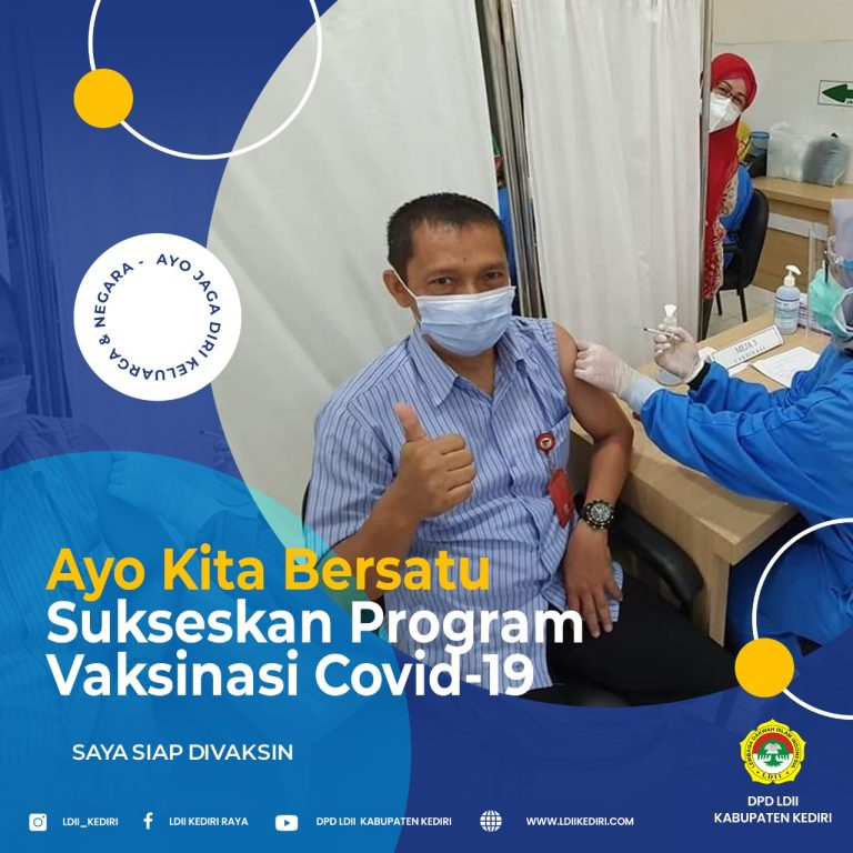 Ketua DPD LDII Kab. Kediri Terima Vaksin Covid-19