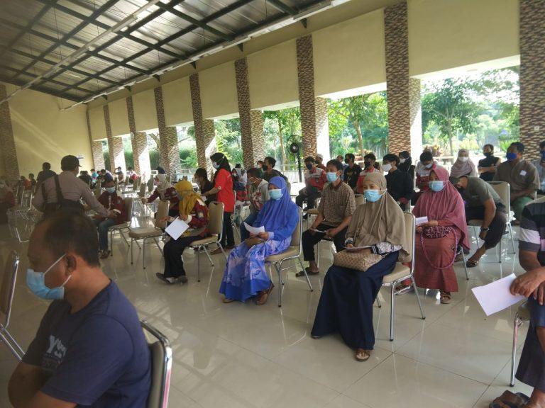 Antusiasme 100 Pengurus LDII Kab. Kediri Ikuti Vaksinasi Covid-19 di RSUD Simpang Lima Gumul